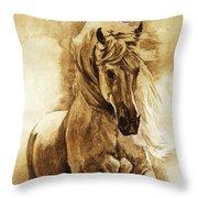 Baroque Horse Series IIi-ii Throw Pillow