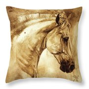Baroque Horse Series IIi-iii Throw Pillow