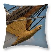 Barque Eagle Masthead Throw Pillow