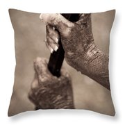 Barred Hands Throw Pillow