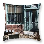 Barred In  Throw Pillow