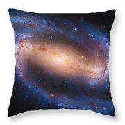 Barred Spiral Galaxy Ndc 1300 Throw Pillow