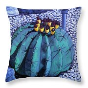 Barrel Buds Throw Pillow by Snake Jagger