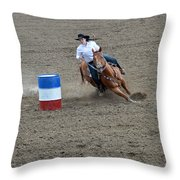 Barrel Racer Two Throw Pillow