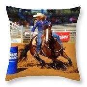 Barrel Rider Throw Pillow