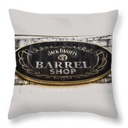 Barrel Shop Throw Pillow