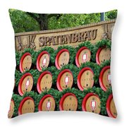 Barrels Throw Pillow