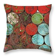 Barrels - Play Of Colors Throw Pillow