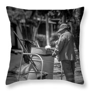 Barrendera Antiguo Cuscatlan Throw Pillow
