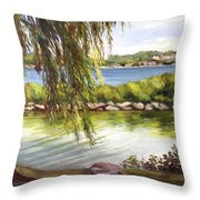 Barrie Waterfront Throw Pillow