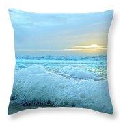 Barrier Island Bubbles Throw Pillow