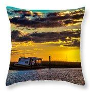 Barrier Island Sunset Throw Pillow