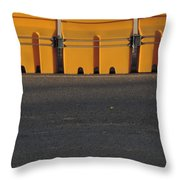 Barriers Of Yellow Throw Pillow