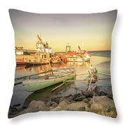 Barriquant Dock Under Sunset  Throw Pillow