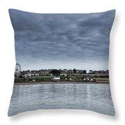 Barry Island Panorama Throw Pillow