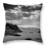Barry Island Rocks Throw Pillow