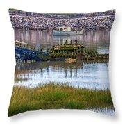 Barry Island Wrecks 3 Throw Pillow