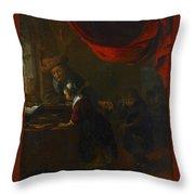 Bartholomeus Mathon Maton Throw Pillow