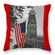 Bartholomew County Court House Throw Pillow