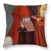Bartholomew Fabro Y Palacios - Bishop Of Huamanga  Throw Pillow