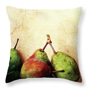 Bartlett Pears Throw Pillow by Stephanie Frey