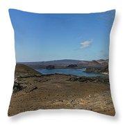 Bartolome Island Panorama Throw Pillow