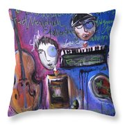 Bas At Meridian Elementary School Throw Pillow