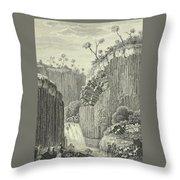 Basalt Rocks And The Cascade De Regla, Throw Pillow