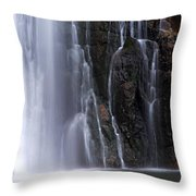 Base Of Porcupine Falls Throw Pillow