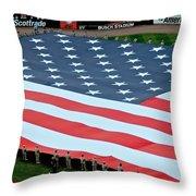 baseball all-star game American flag Throw Pillow