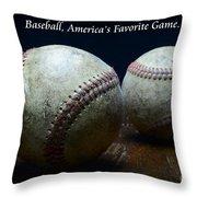 Baseball Americas Favorite Game Throw Pillow