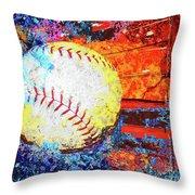 Baseball Art Version 6 Throw Pillow