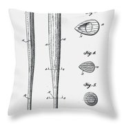 Baseball Bat Patent 1939 Throw Pillow