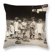 Baseball: Boys And Girls Throw Pillow by Granger