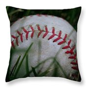 Baseball Throw Pillow by Diane Reed
