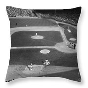 Baseball Game, 1967 Throw Pillow by Granger