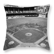 Baseball Game, C1953 Throw Pillow