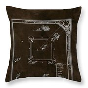 Baseball Game Patent Throw Pillow