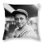 Baseball Mascot Eddie Bennett Throw Pillow