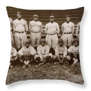 Baseball: Negro Leagues Throw Pillow
