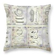 Baseball Patent History Throw Pillow