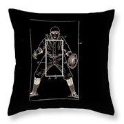 Baseball Pitcher's Practice Target Patent 1924 Throw Pillow