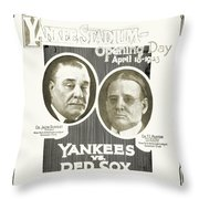Baseball Program, 1923 Throw Pillow by Granger
