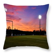 Baseball Sunset Throw Pillow
