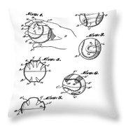 Baseball Training Device Patent 1961 Throw Pillow
