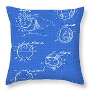 Baseball Training Device Patent 1961 Blueprint Throw Pillow