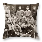 Baseball: West Point, 1896 Throw Pillow by Granger