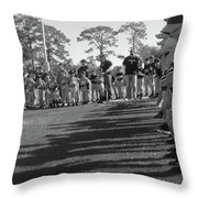 Baseball's New Season's Shadow Throw Pillow by WaLdEmAr BoRrErO