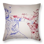 Basebrawl Throw Pillow