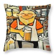 Basement Brewer Throw Pillow